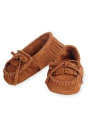 Mud Pie Brown Baby Mocassins - Product Mini Image