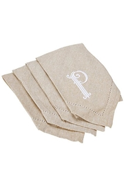 MUDPIE Embroidered Initial Napkins - Front cropped