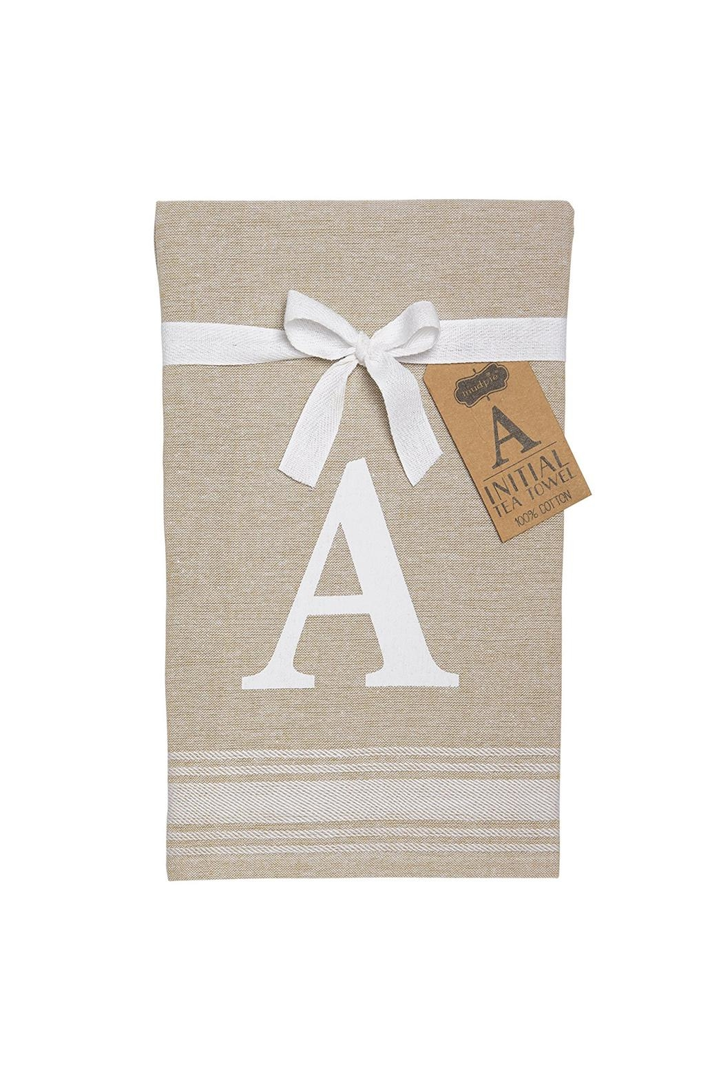 Mud Pie  Embroidered Initial Towel - Main Image