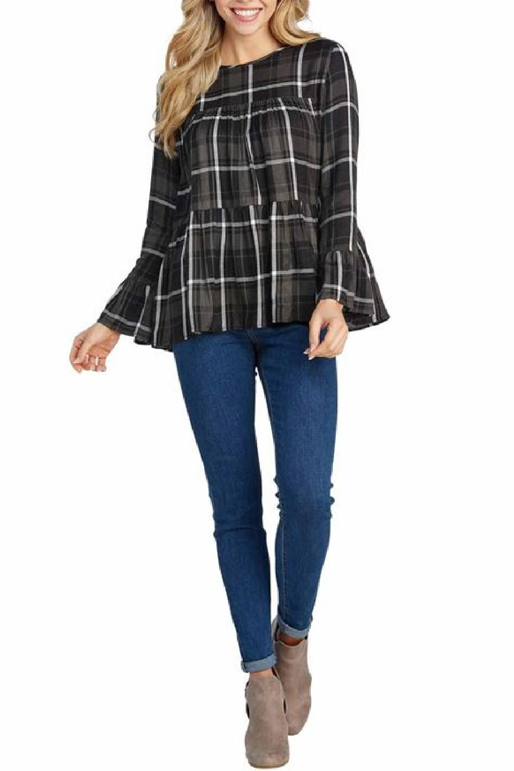 MudPie Evelyn Plaid Top - Main Image
