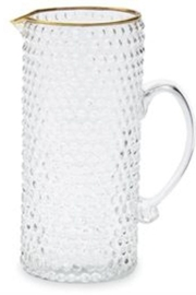 MudPie Gold Bubble Glass Pitcher - Front full body