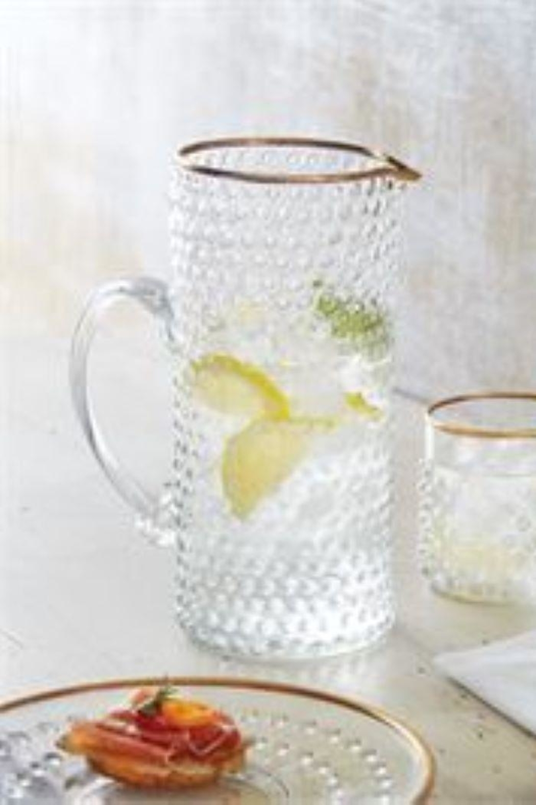 MudPie Gold Bubble Glass Pitcher - Main Image