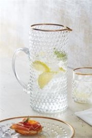 MudPie Gold Bubble Glass Pitcher - Front cropped