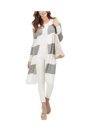 MudPie Long Stripe Cardigan - Product Mini Image
