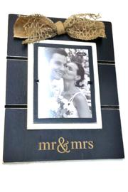 Mud Pie Mr&Mrs Photo Frame - Product Mini Image
