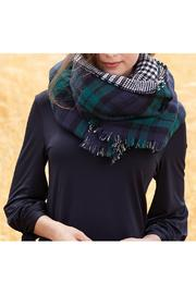 Mud Pie Reversible Plaid Scarf - Front full body