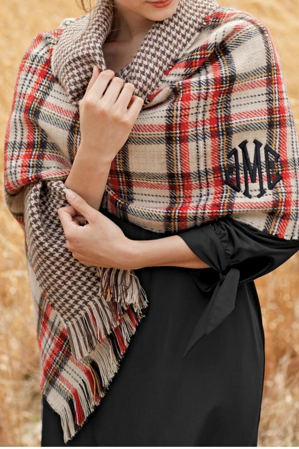 Mud Pie Reversible Plaid Scarf - Main Image