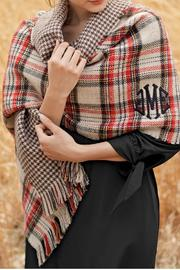 Mud Pie Reversible Plaid Scarf - Front cropped