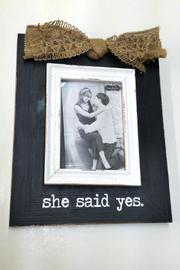 Mud Pie She-Said-Yes Photo Frame - Product Mini Image