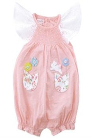 MUDPIE Smocked Bubble Bunny - Product Mini Image