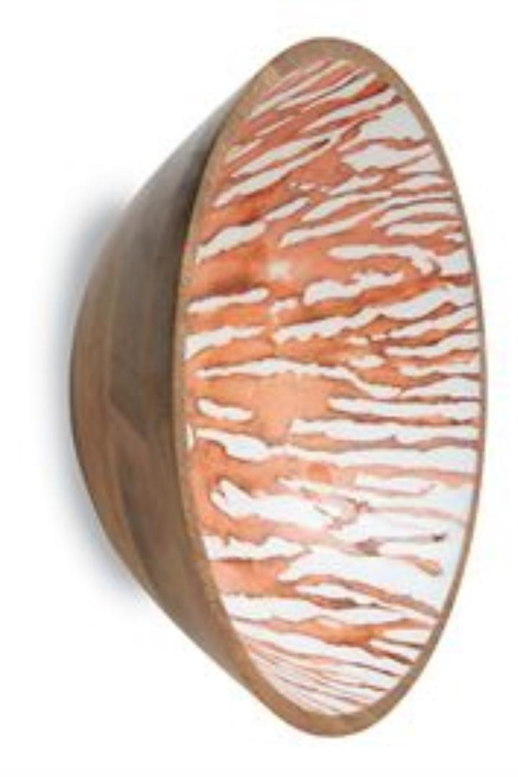 MUDPIE Wood-Enamel Coral Bowl - Front Cropped Image
