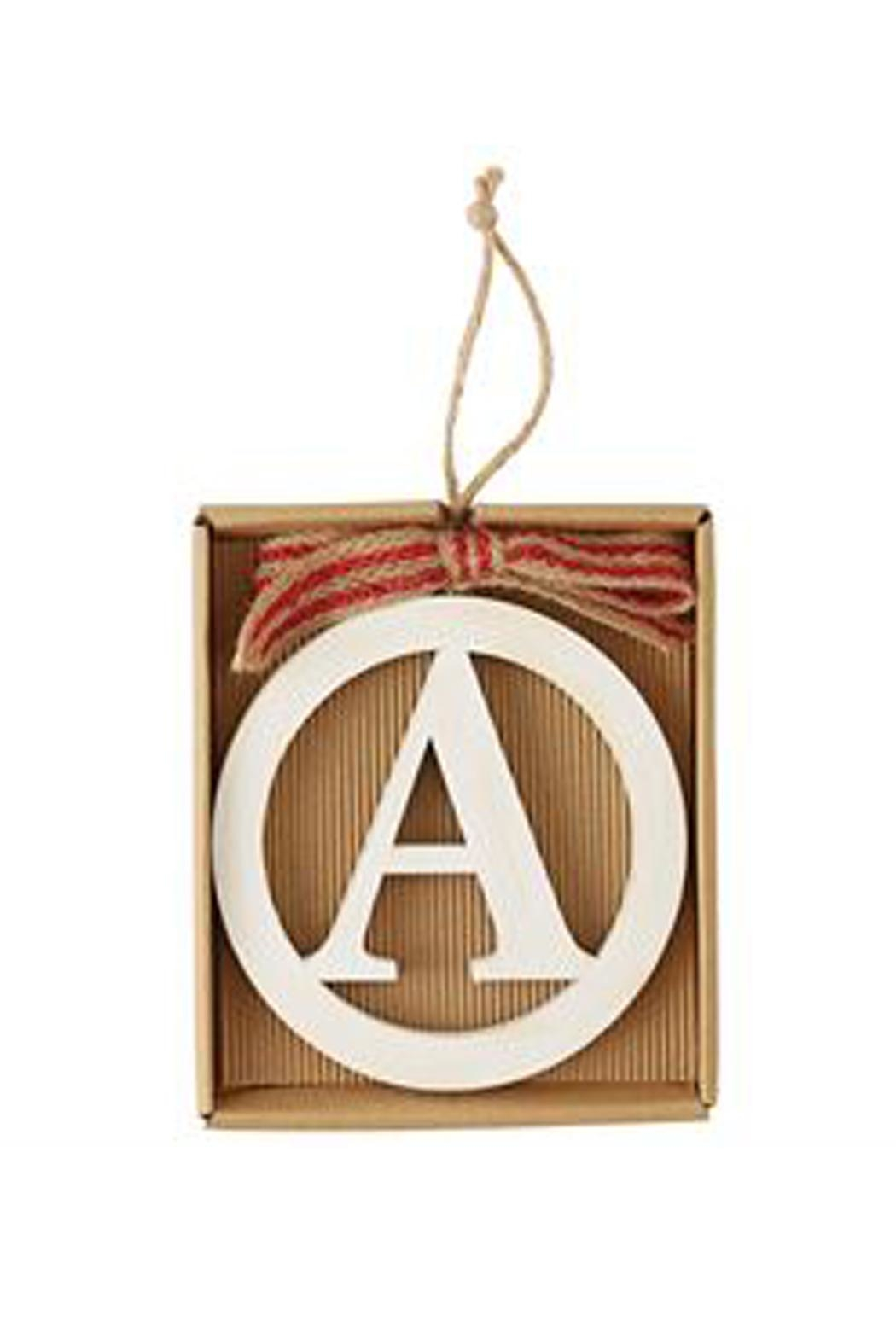 MUDPIE Wooden Initial Ornament - Main Image