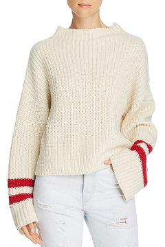 Lost + Wander Mulberry Stripe-Sleeve Sweater - Product List Image