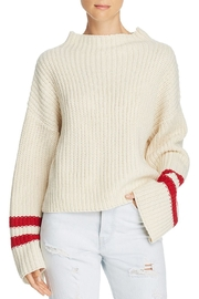 Lost + Wander Mulberry Stripe-Sleeve Sweater - Product Mini Image