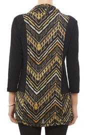 Mulitples Aztec Print Solid Tunic - Back cropped