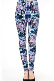 New Mix Mullticolor Brushed Leggings - Product Mini Image