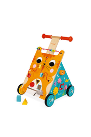 Janod Multi Activities Cat Baby Walker - Front cropped
