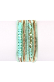 Riah Fashion Multi-Bead Wrap Bracelet - Product Mini Image