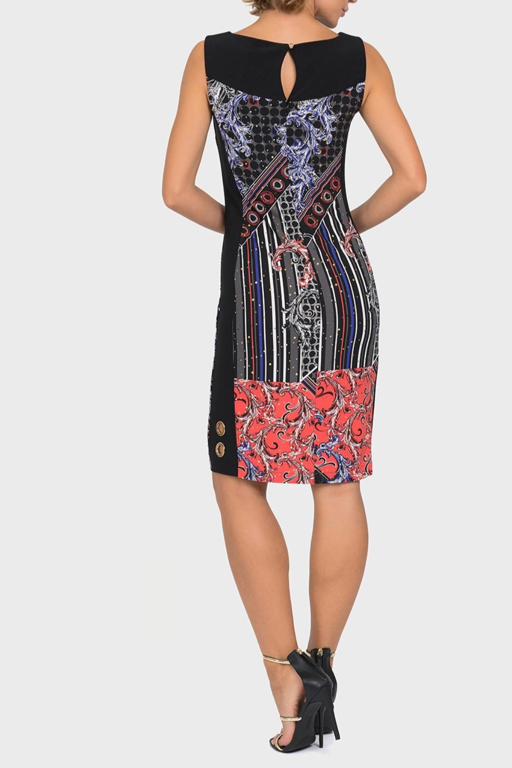 Joseph Ribkoff Multi Black Dress - Front Full Image