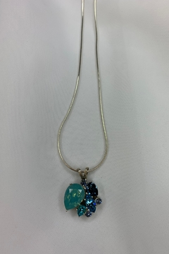 deannas Multi Blue Gemstone Necklace - Alternate List Image