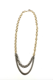 LJ Sonder  Multi-Chain Necklace with an edge - Product Mini Image