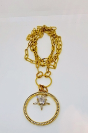 Abeja Gold Multi Charm Necklace - Product Mini Image