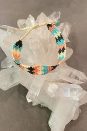 Mishky Multi. Chevron Beaded Adjustable Bracelet - Product Mini Image