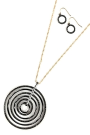 Night Queen Multi Circle Necklace-Set - Product Mini Image