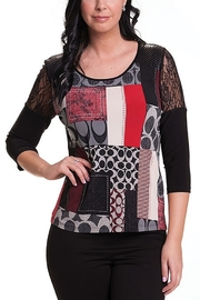 Bali Corp. Multi Color 3/4 Sleeve Top Bali 6759 - Product Mini Image