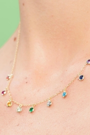 Jaimie Nicole Multi Color Charm-Necklace - Back cropped