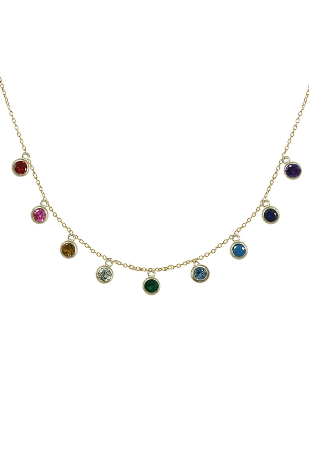 Jaimie Nicole Multi Color Charm-Necklace - Front Cropped Image