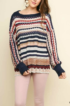 Umgee USA Multi-Color Crochet-Pullover Sweater - Product List Image