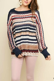 Umgee USA Multi-Color Crochet-Pullover Sweater - Product Mini Image