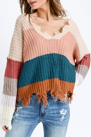 Trend Shop Multi Color Destroyed-Sweater - Product Mini Image
