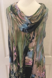 parsley& sage multi color draped neck tunic - Product Mini Image