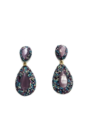 Lets Accessorize Multi-Color Drop Earrings - Product Mini Image