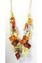 KIMBALS Multi-Color Kabibi Shells 3-Strand Necklace - Front full body