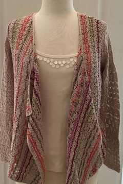 Nic + Zoe multi color light knit cardigan - Alternate List Image