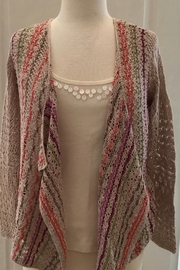 Nic + Zoe multi color light knit cardigan - Product Mini Image