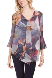 Frank Lyman Multi Color Overlay Tunic Top 183484 - Product Mini Image