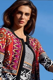 Joseph Ribkoff  multi color print jacket - Product Mini Image