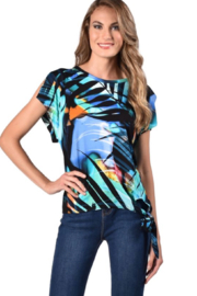 Frank Lyman Multi color print top - Product Mini Image
