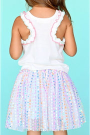 Baby Sara Multi Color Sequin Tutu Skirt - Side cropped