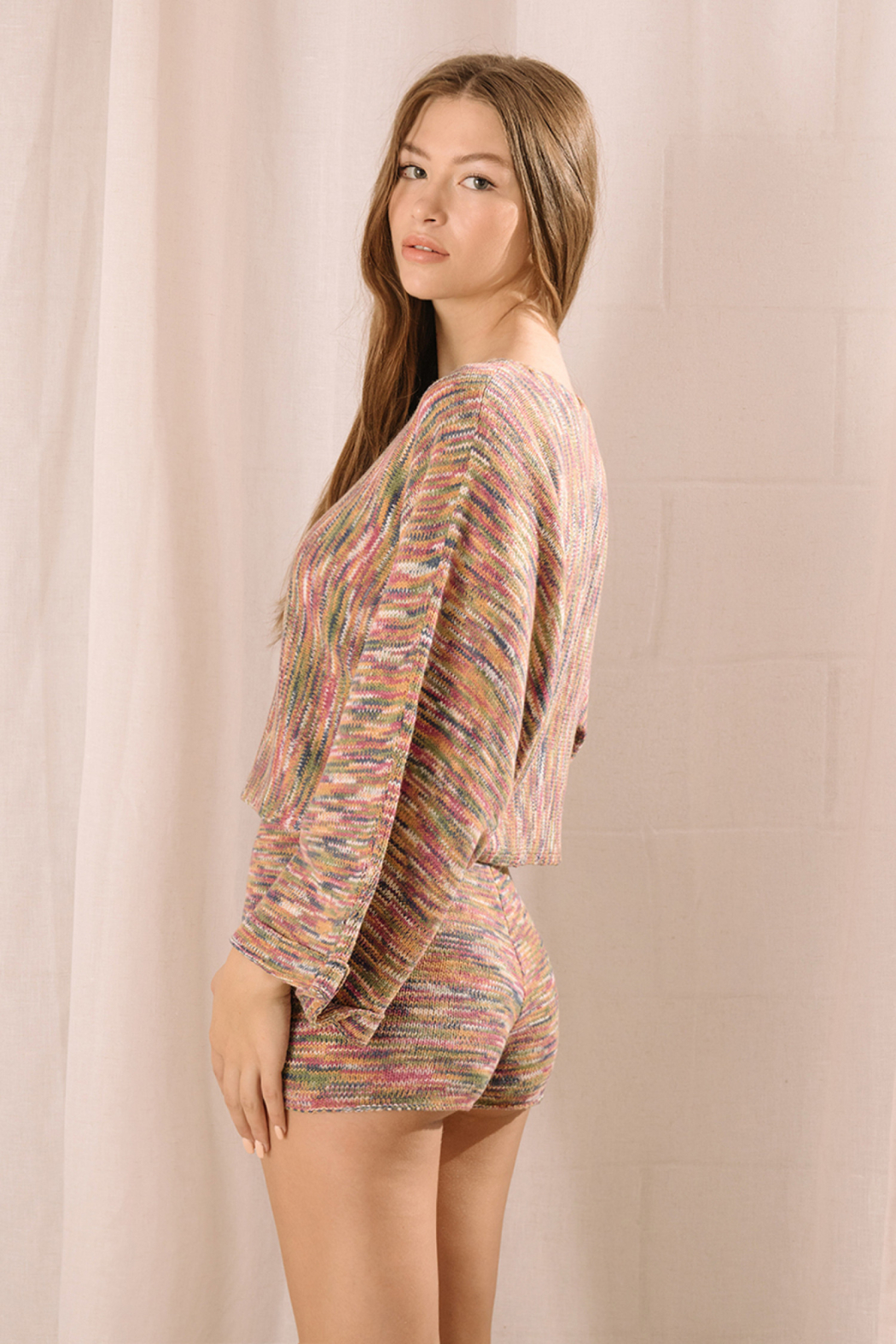 storia Multi Color Shorts - Front Full Image