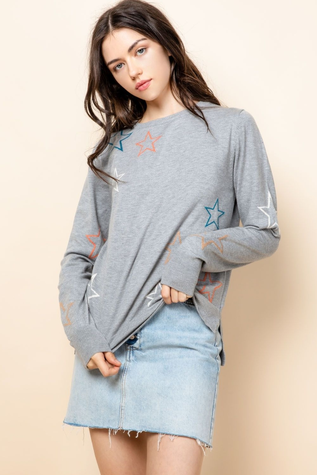 Thml STAR SWEATER - Front Cropped Image