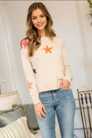 Thml Multi Color Star Sweater - Front cropped