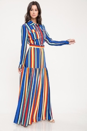Latiste Multi-Color Stripe Dress - Product Mini Image