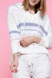 POL Multi-color striped berber fleece weater - Product Mini Image