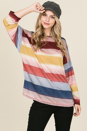 Unlimited Multi Color Striped Loose Fit Top - Product Mini Image