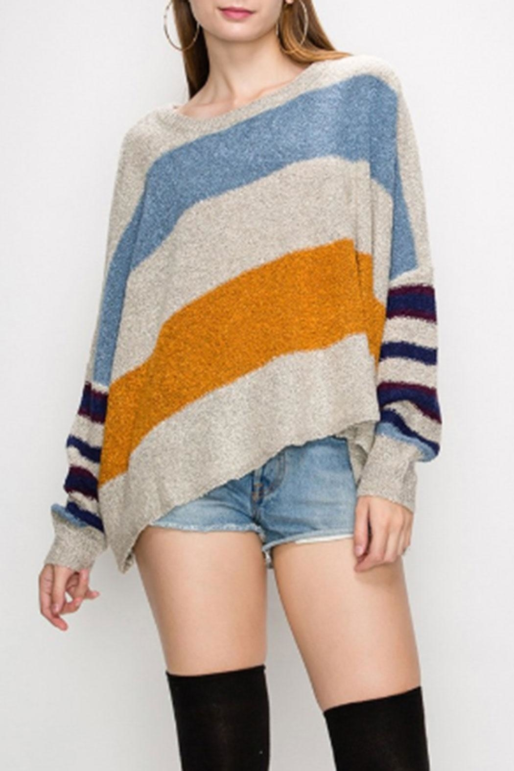 HYFVE Multi-Color Striped Sweater - Main Image